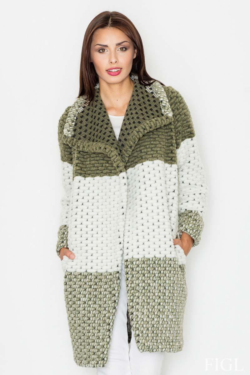 Green Elegant&Stylish Wollen Coat