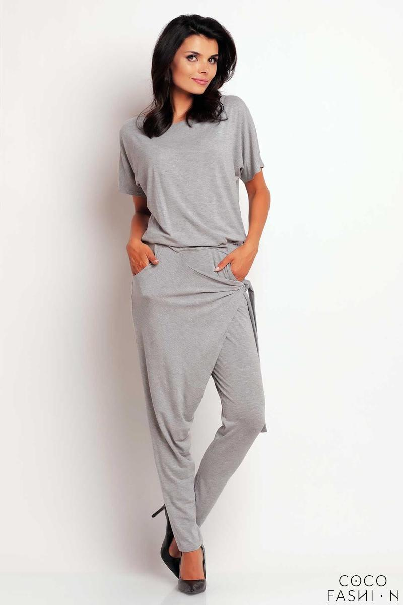 grey-stylish-self-tie-belt-baggy-pants-jumpsuit
