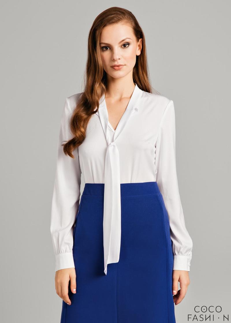 White Chic Shirt with Self Tie Sash
