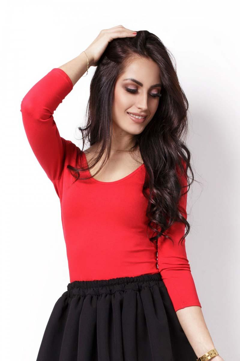 Red Classic Top with Open Back