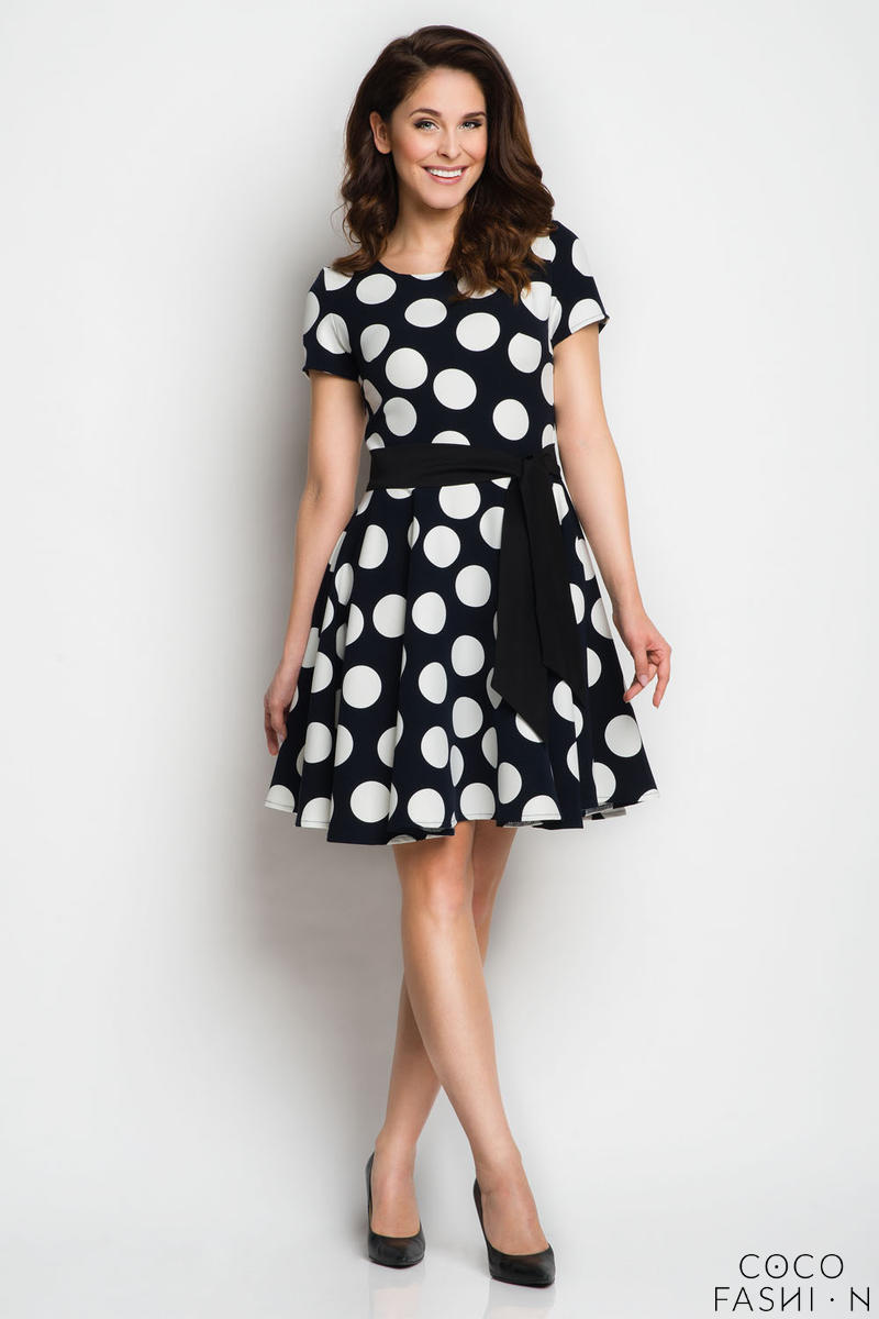 dark-blue-polka-dots-dress-with-sash