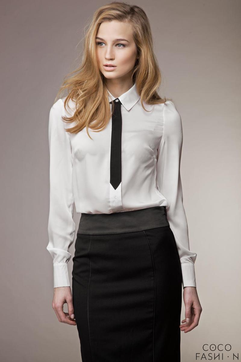 white-business-style-blouse-with-a-tie