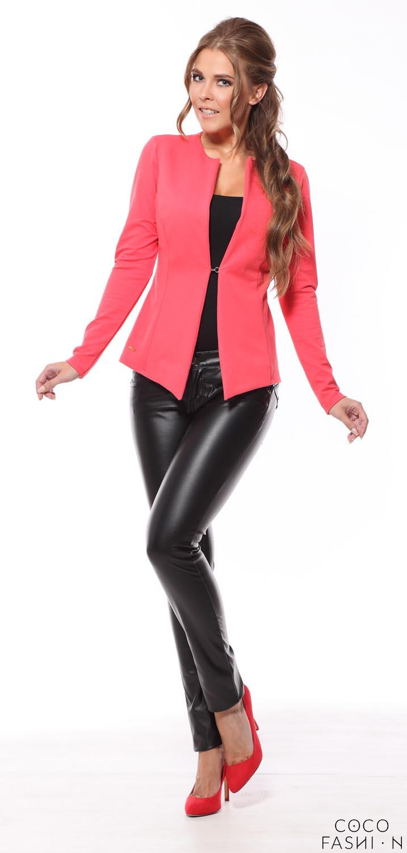 coral-classic-slim-waist-blazer