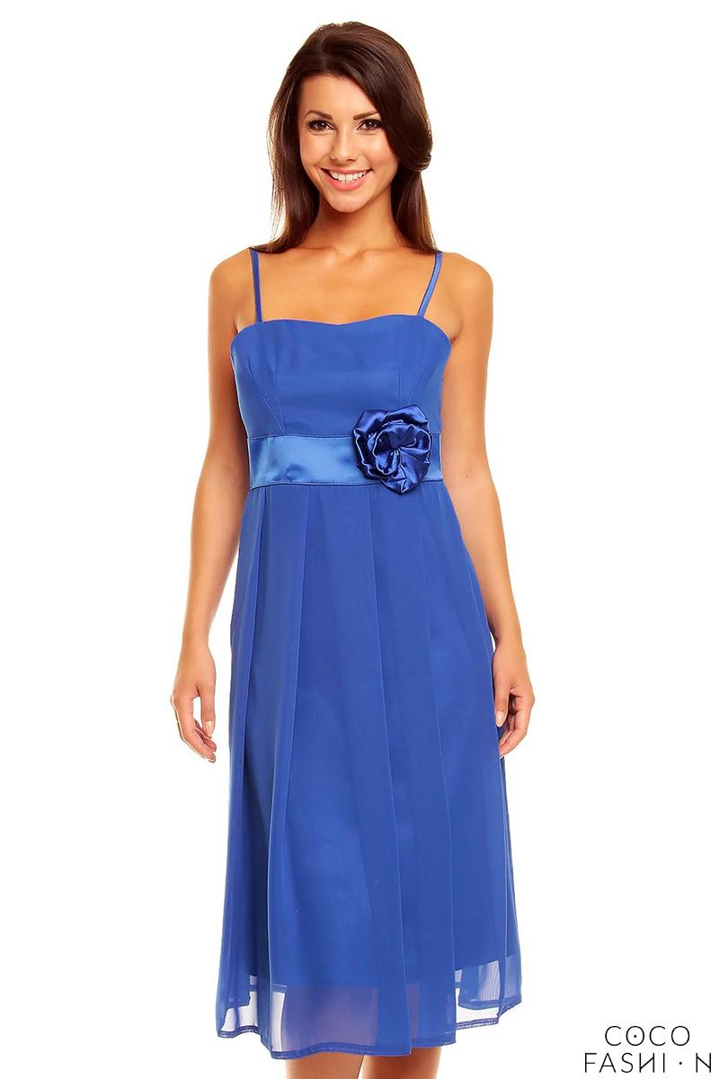 blue-spaghetti-straps-coctail-dress-with-a-flower