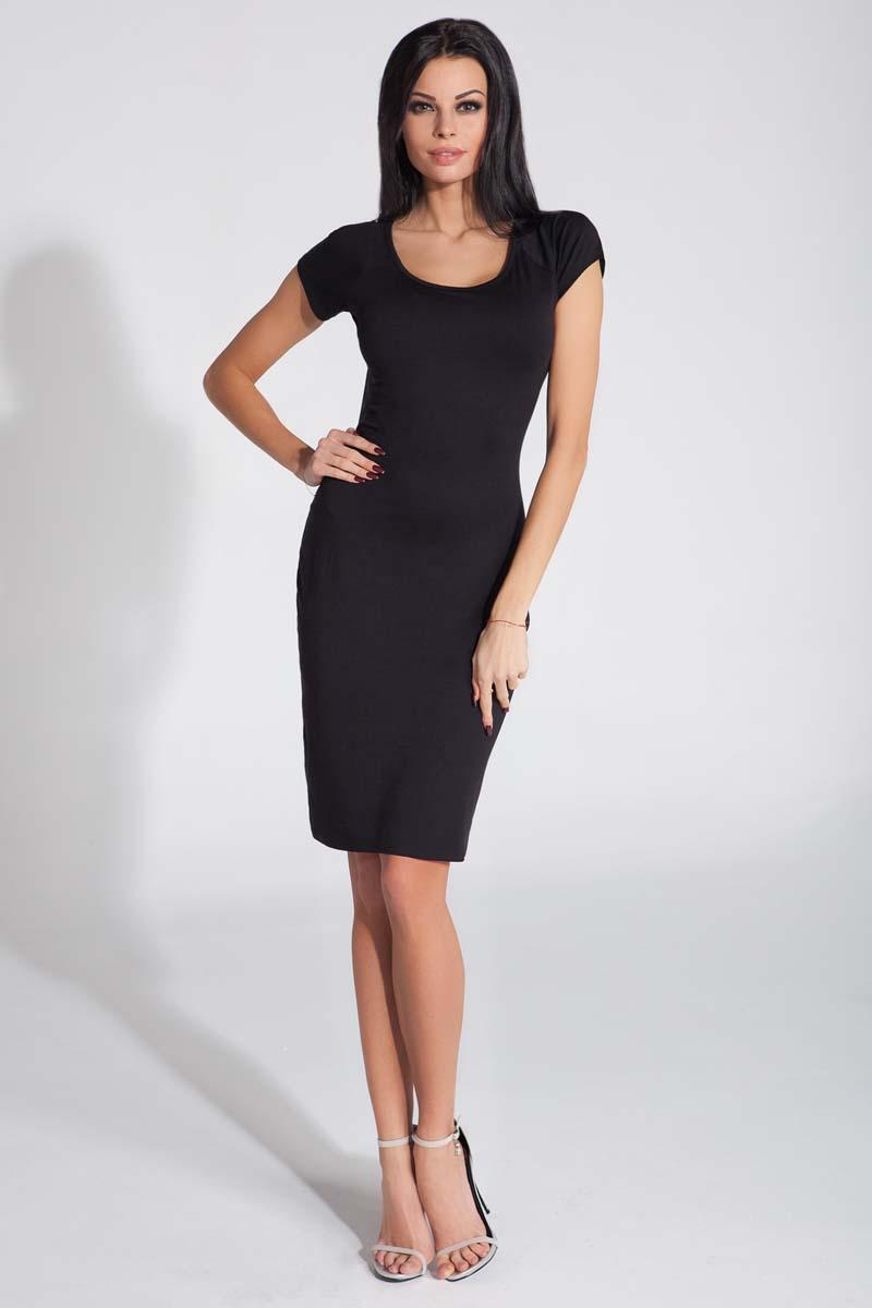 Black Bodycon Open Back Dress