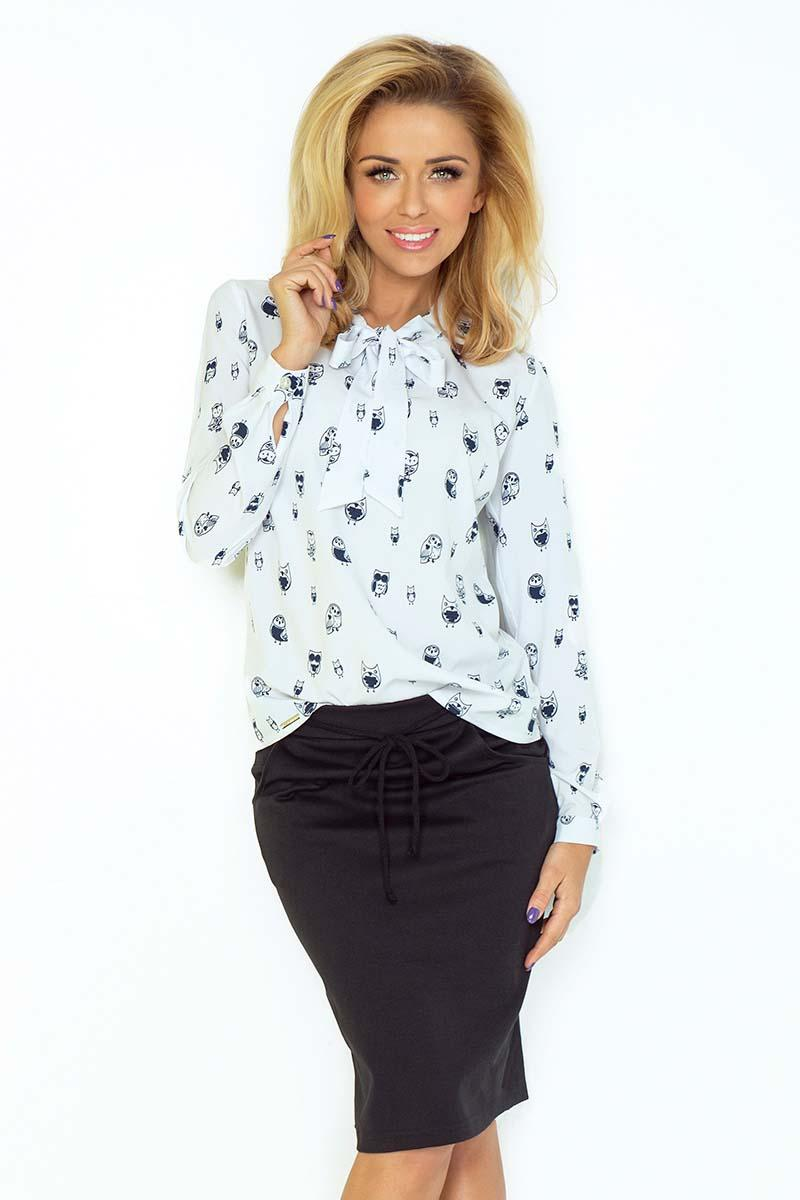 white-owl-pattern-shirt-with-self-tie-bow