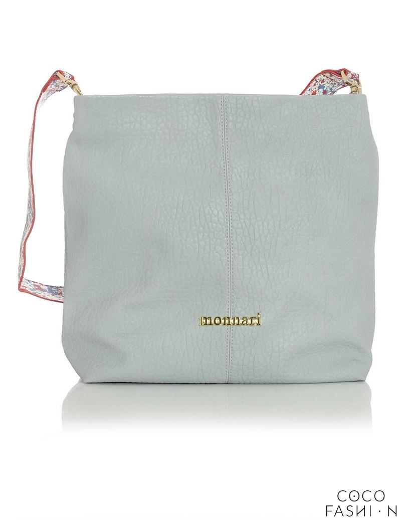 Grey Comfy Large Bag with Colorful Strap