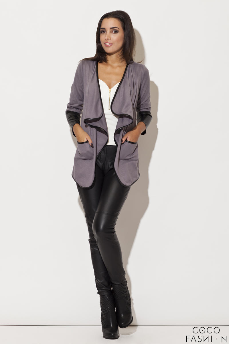 trimmed-waterfall-grey-jacket-with-fitted-leather-cuffs