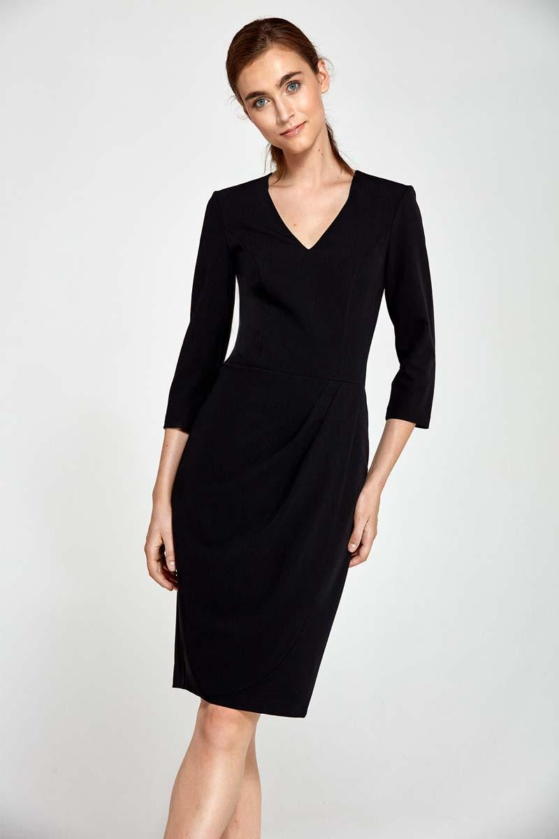 black-classic-office-style-dress