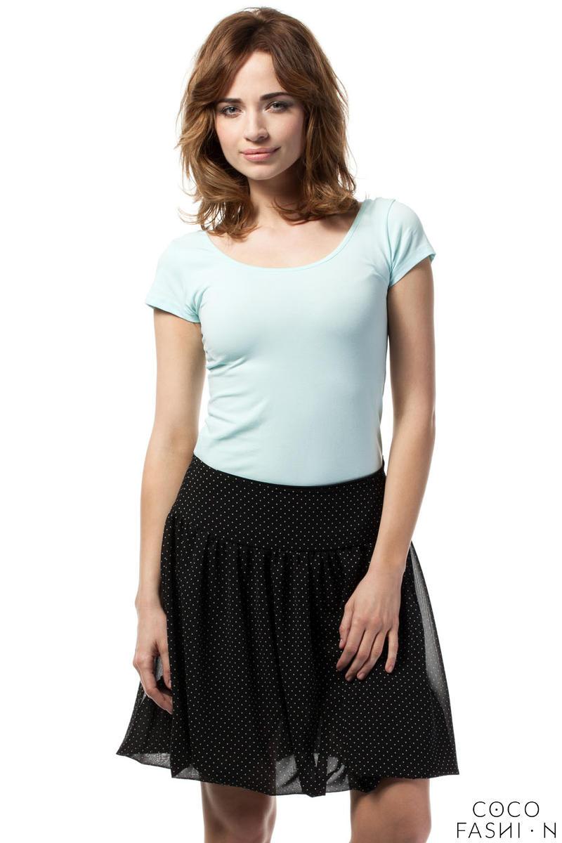 black-polka-dotted-cute-mini-skirt