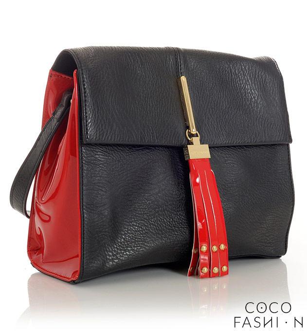 Black&Red Ladies Shoulderbag with Fringe от cocofashion