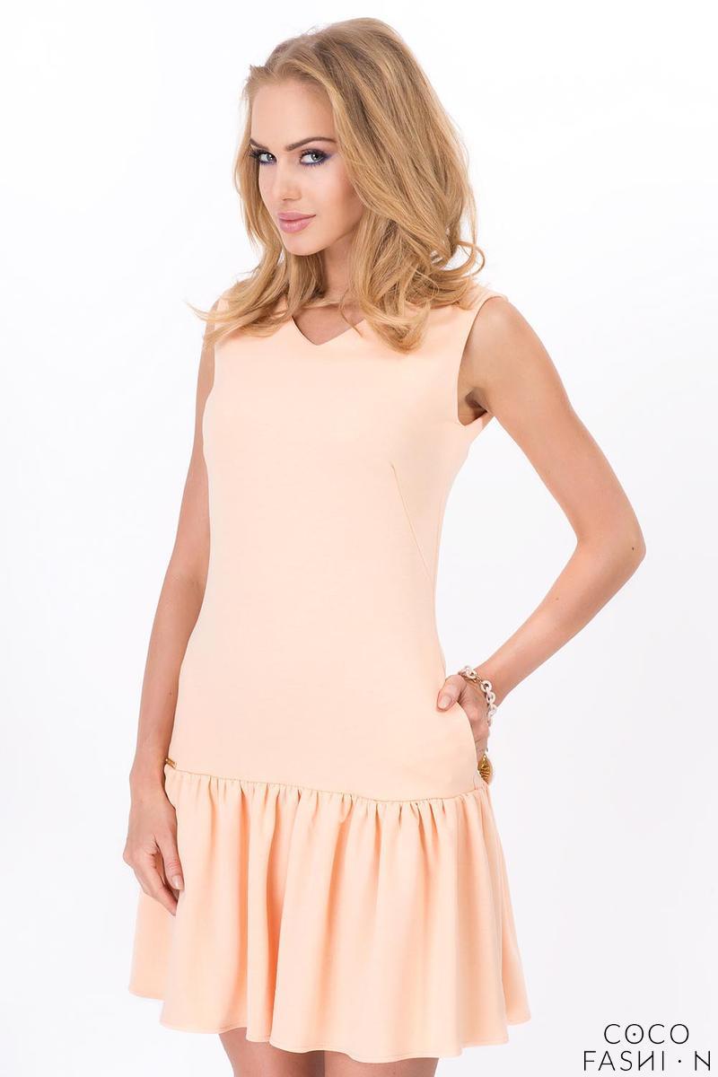 Apricot Summer Style Frilled Sleeveless Mini Dress от cocofashion