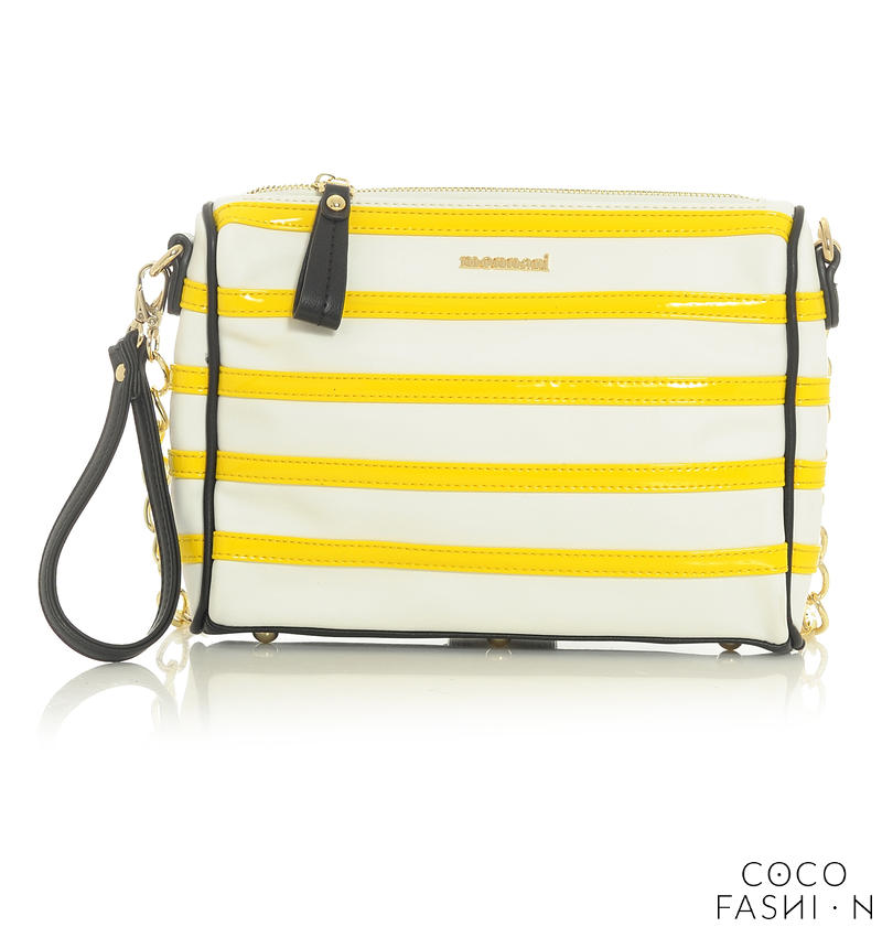 white-yellow-stylish-clutch-bag-with-chain