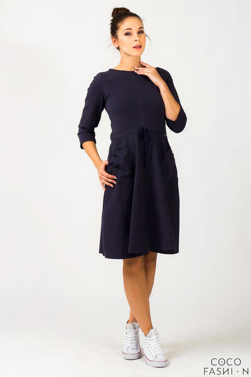 4e29164d2a Navy Blue Refreshing Humming Monk Spring Dress