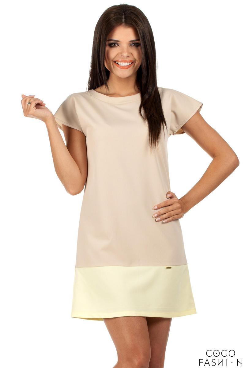 Beige Pastel Lovely Straight Cut Lovely Dress