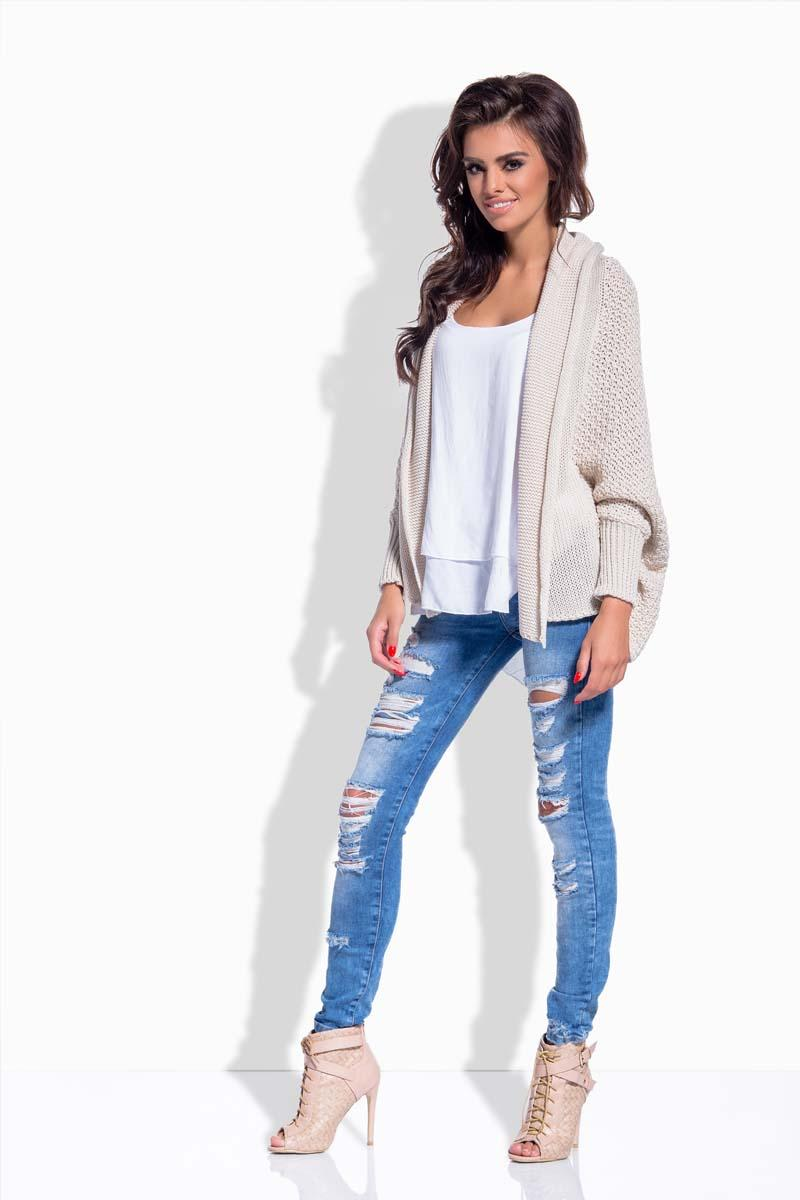Beige Loose Fall Style Cardigan