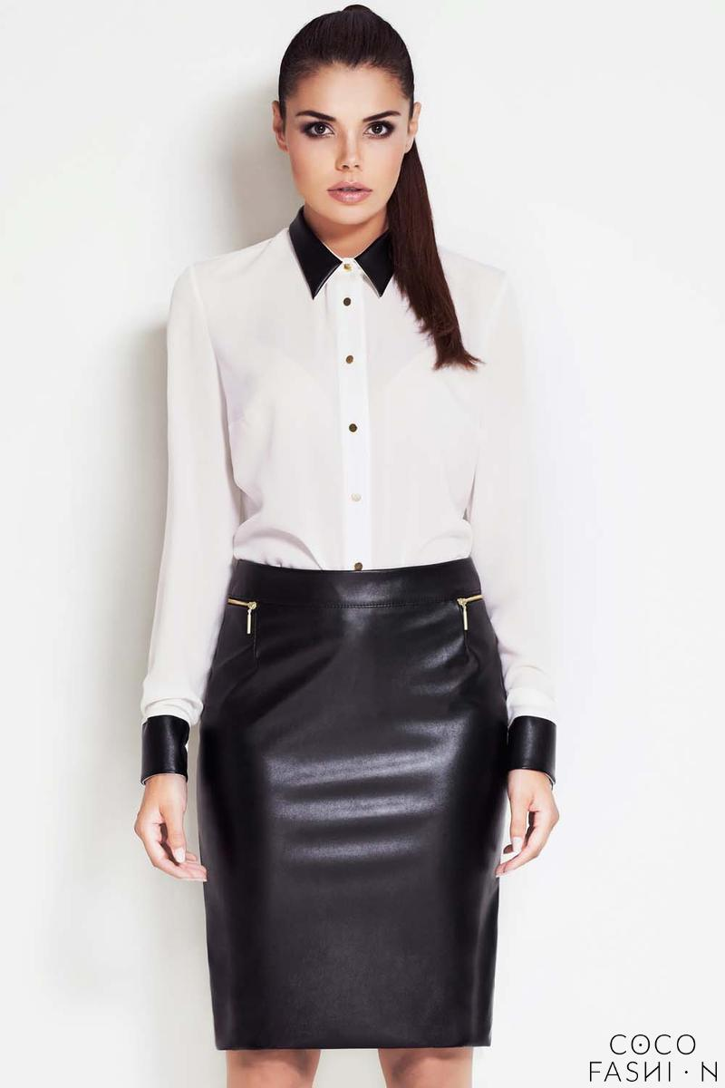 black-high-fashion-statement-biker-leather-faux-skirt
