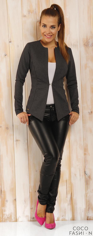 dark-grey-classic-slim-waist-blazer