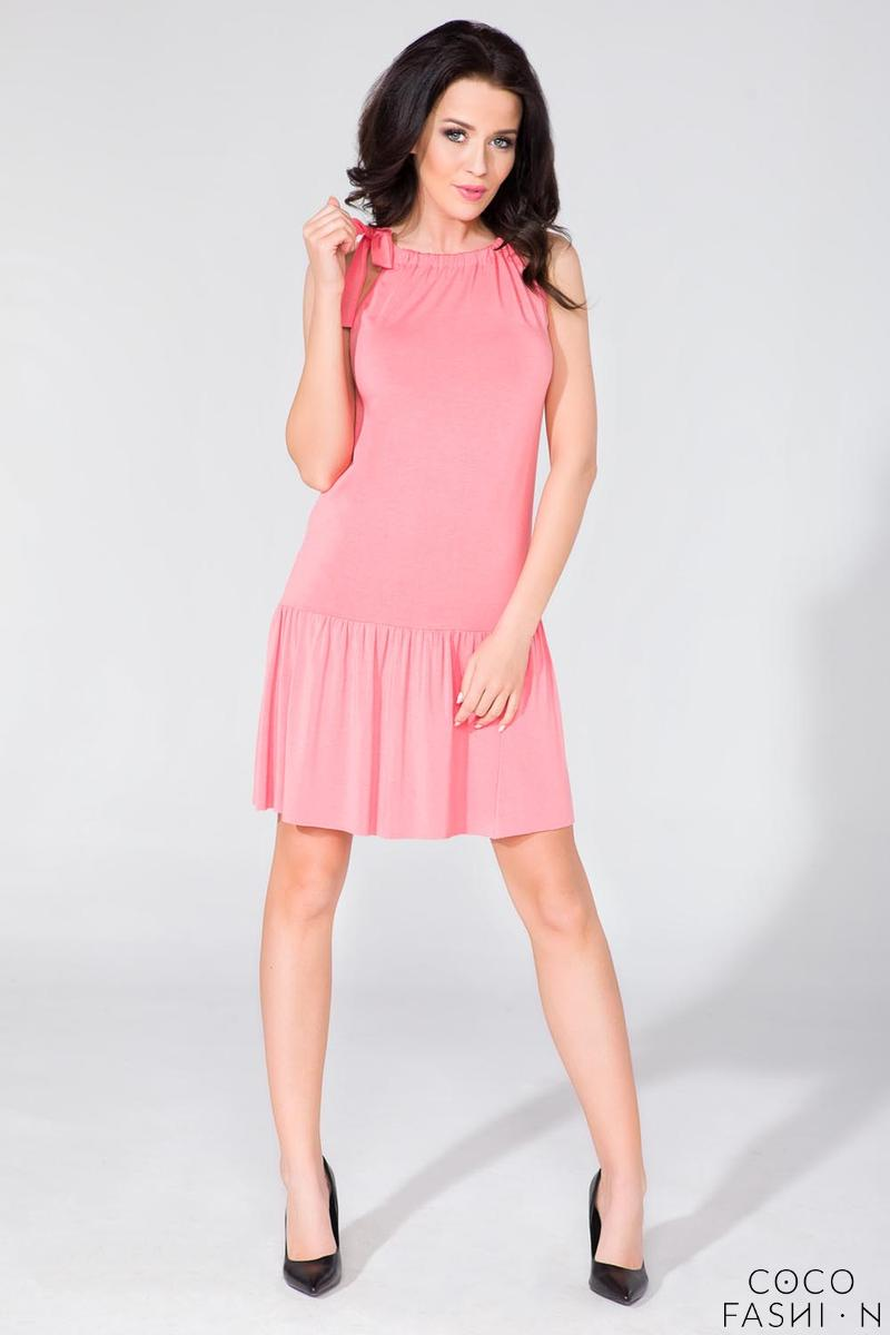 Pink Summer Frilled Dress