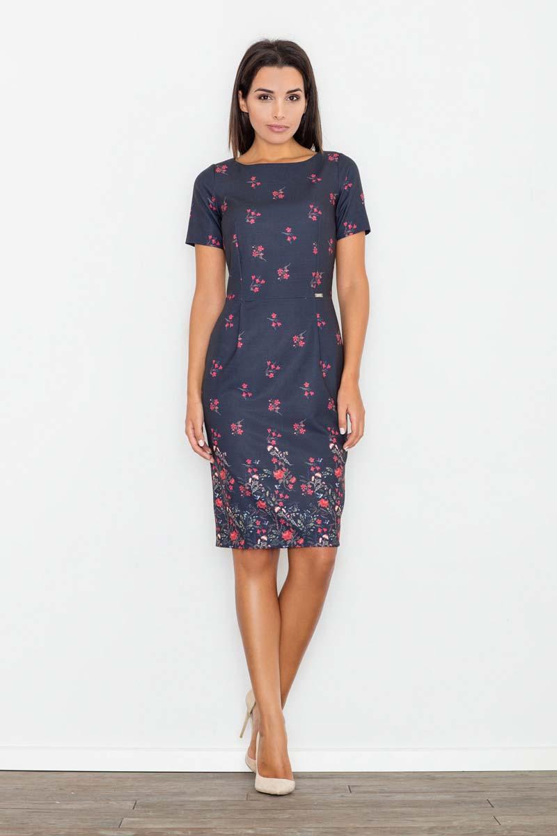 floral-pattern-coctail-pencil-dress