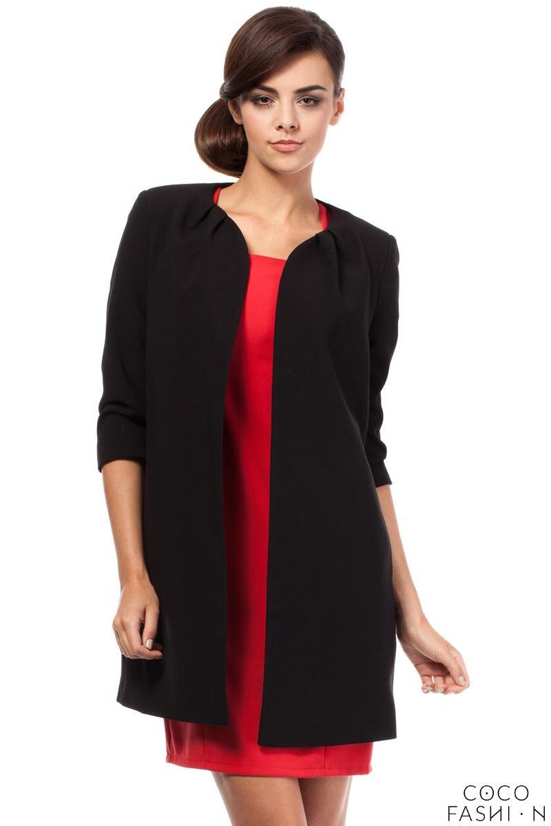 Black Elegant Long Blazer