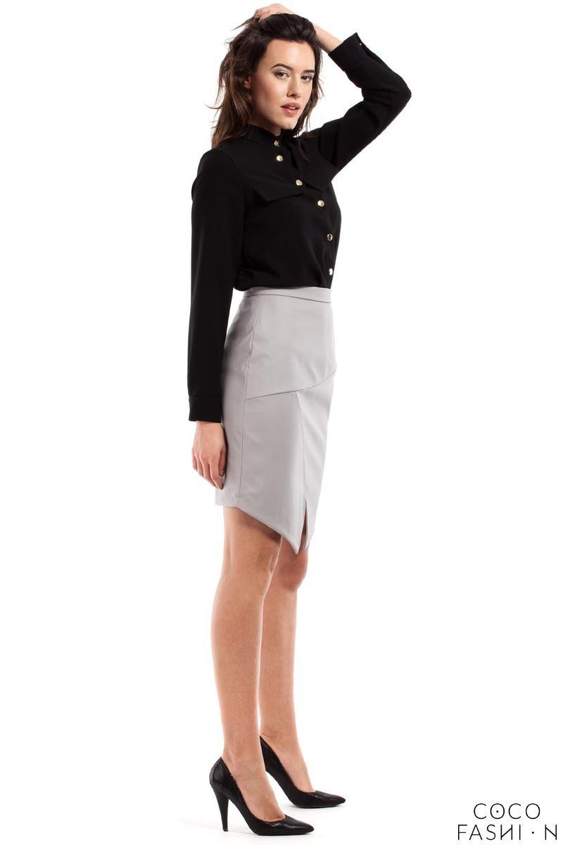 Pencil Asymmetrical Mini Skirt
