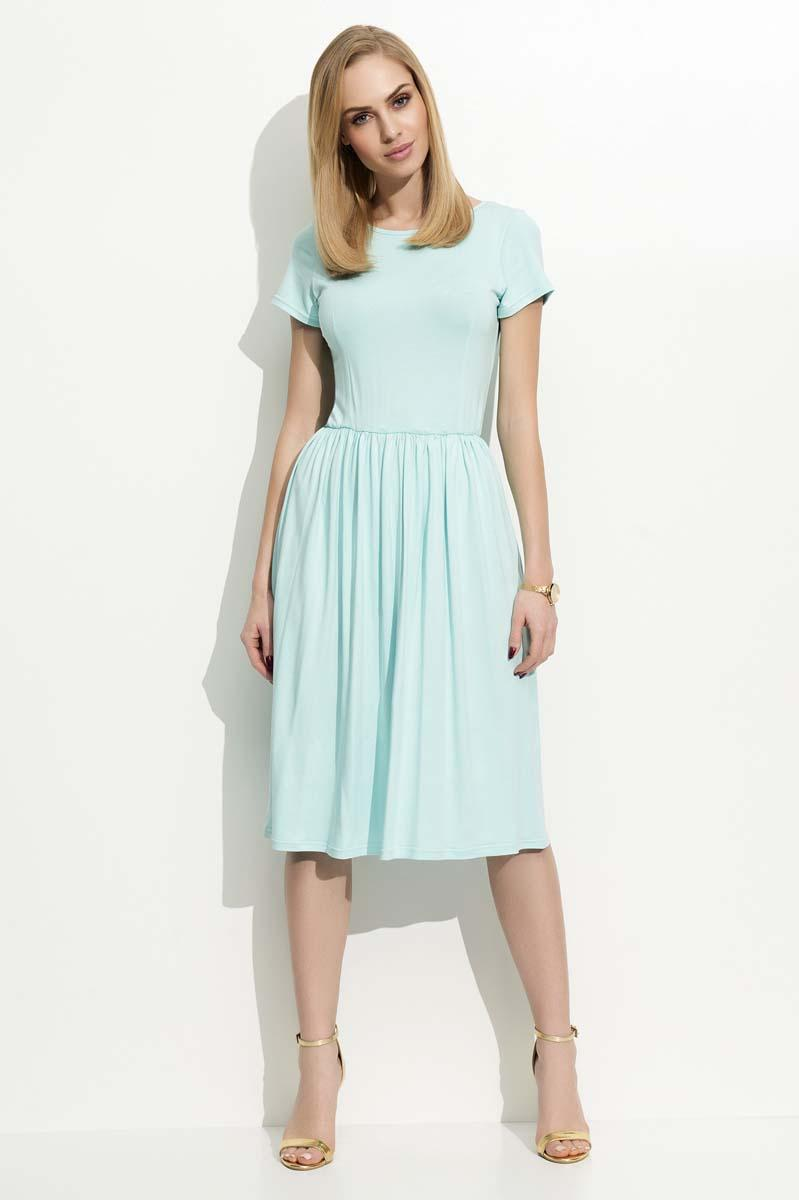 Light Green Short Sleeves Casual Midi Dress