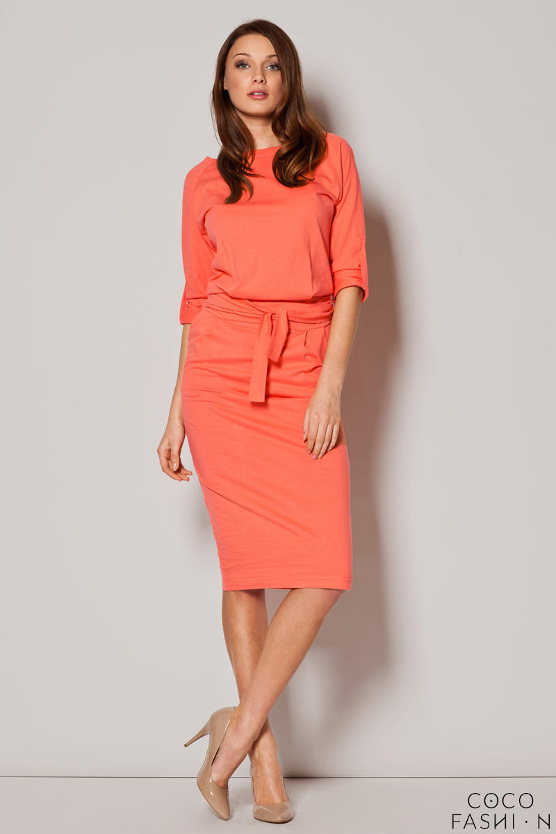 Colorful Urban Style Monk Hip Dress