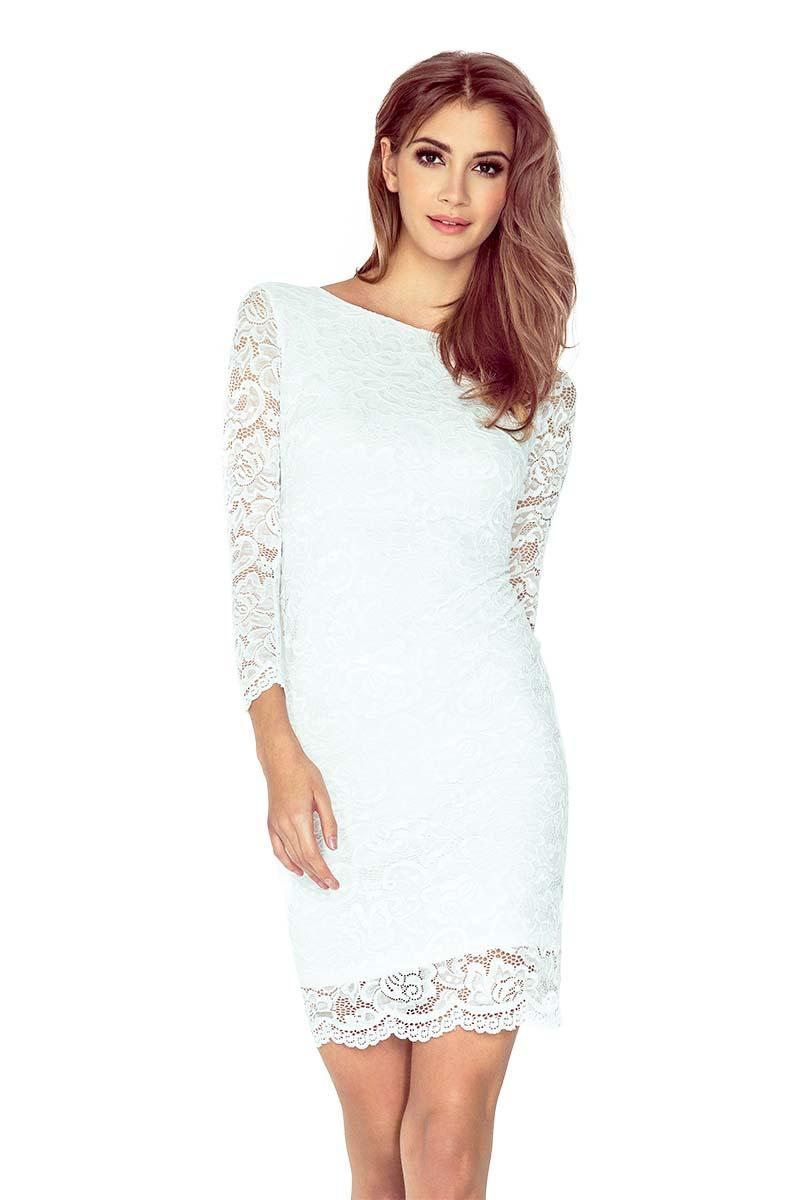 Ecru Bodycon Lace Dress