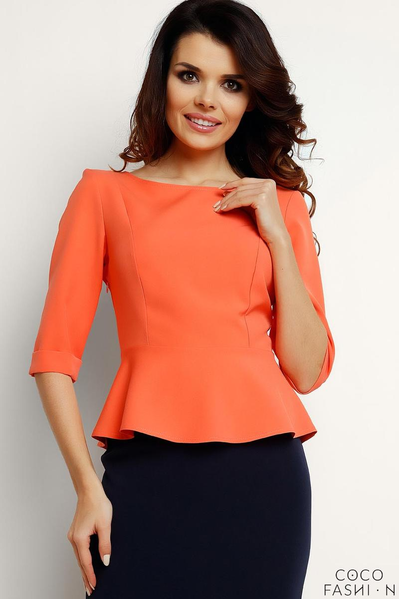 coral-elegant-peplum-blouse