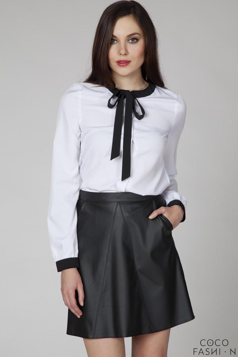 White Retro Style Shirt with Bow