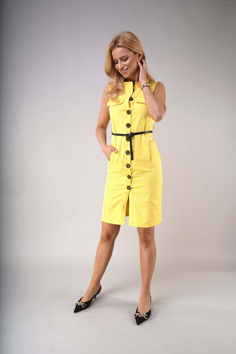 Safari Style Summer Dress - Yellow