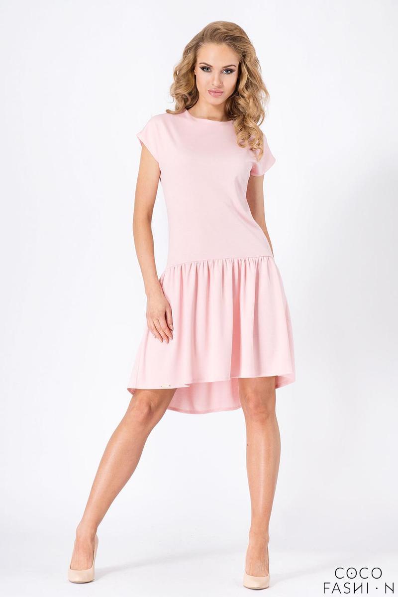 Pink Romantic Low Waistline Summer Dress от cocofashion