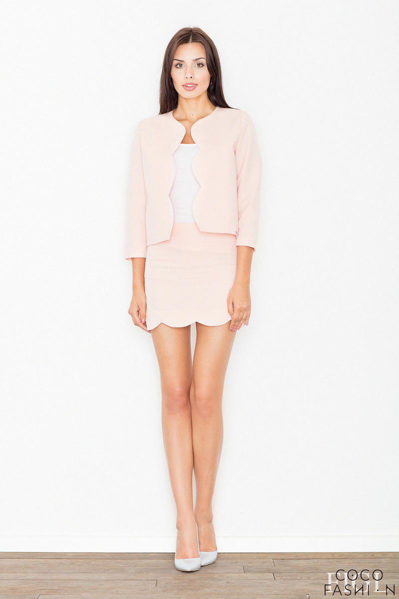 Pink Set Mini Dress+Short Blazer