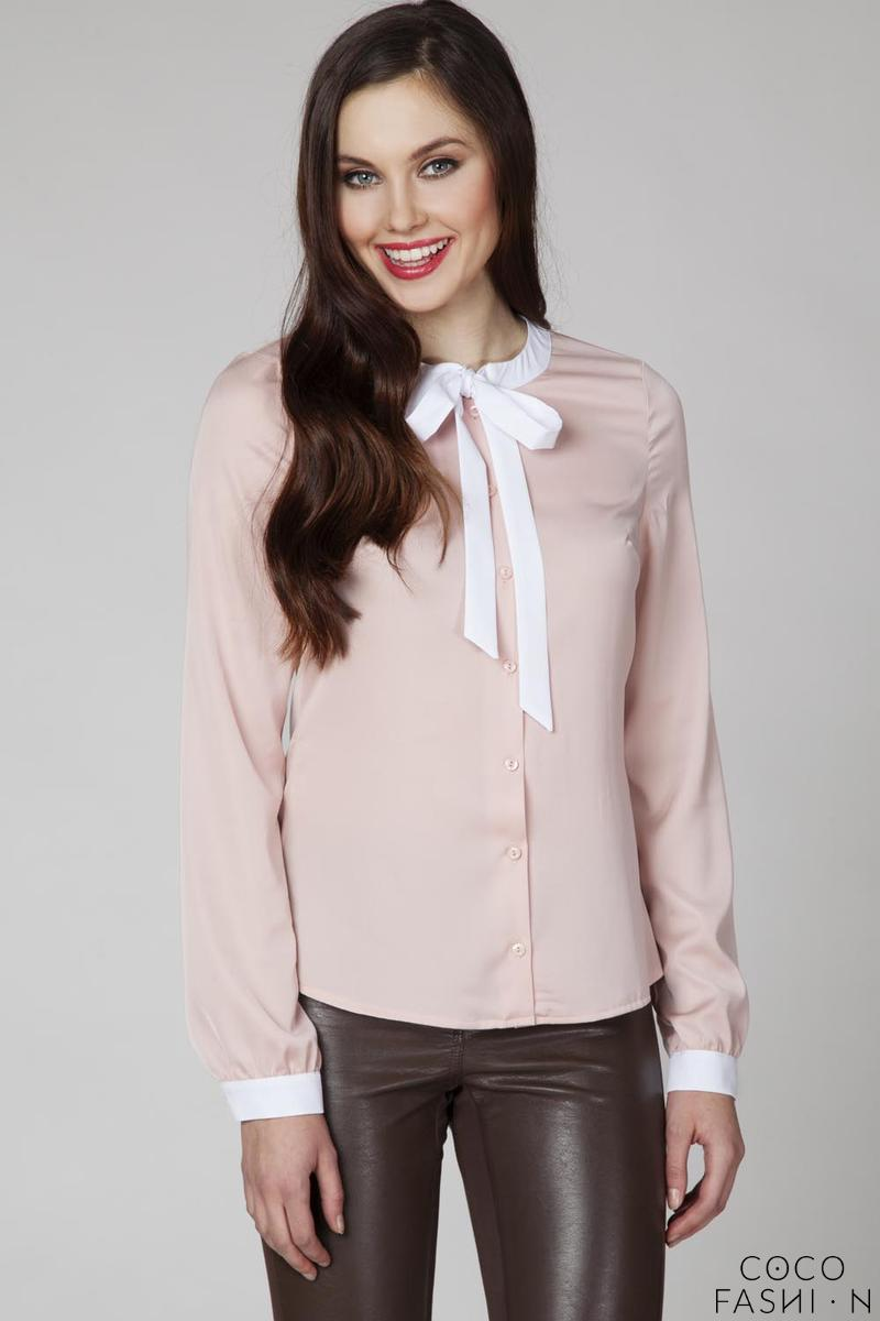 Pink Retro Style Shirt with Bow от cocofashion