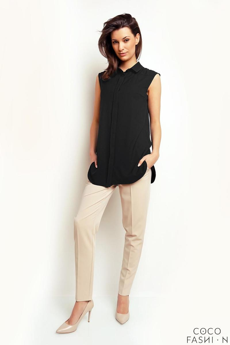 Black Sleeveless Summer Shirt