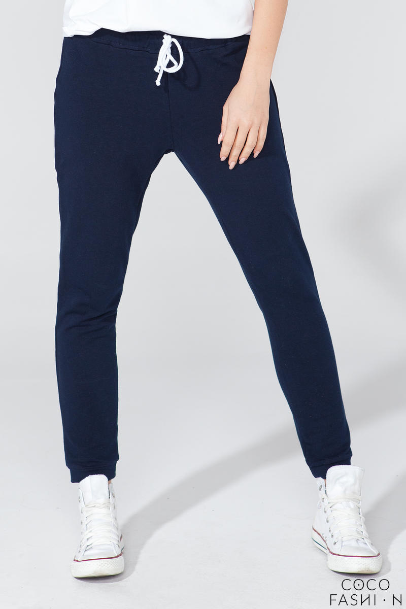 Dark Blue Stylish Jogger Pants