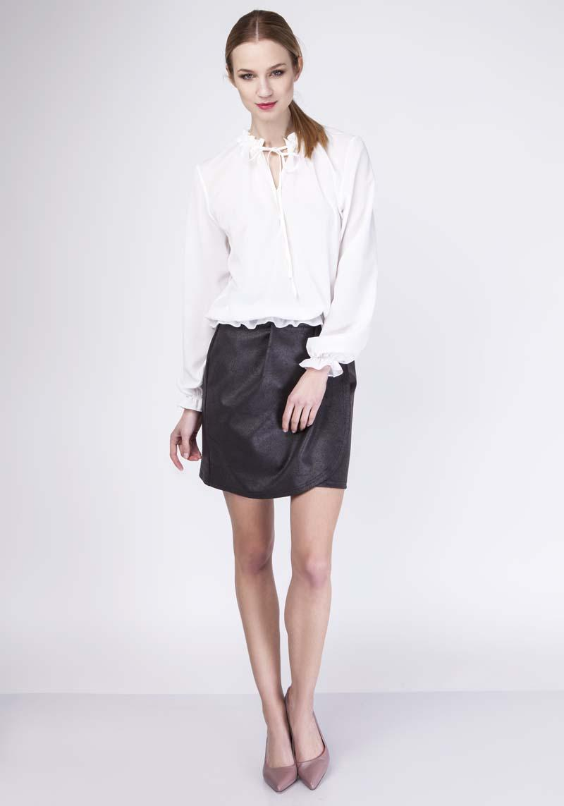 Ecru Romantic Blouse with Frills
