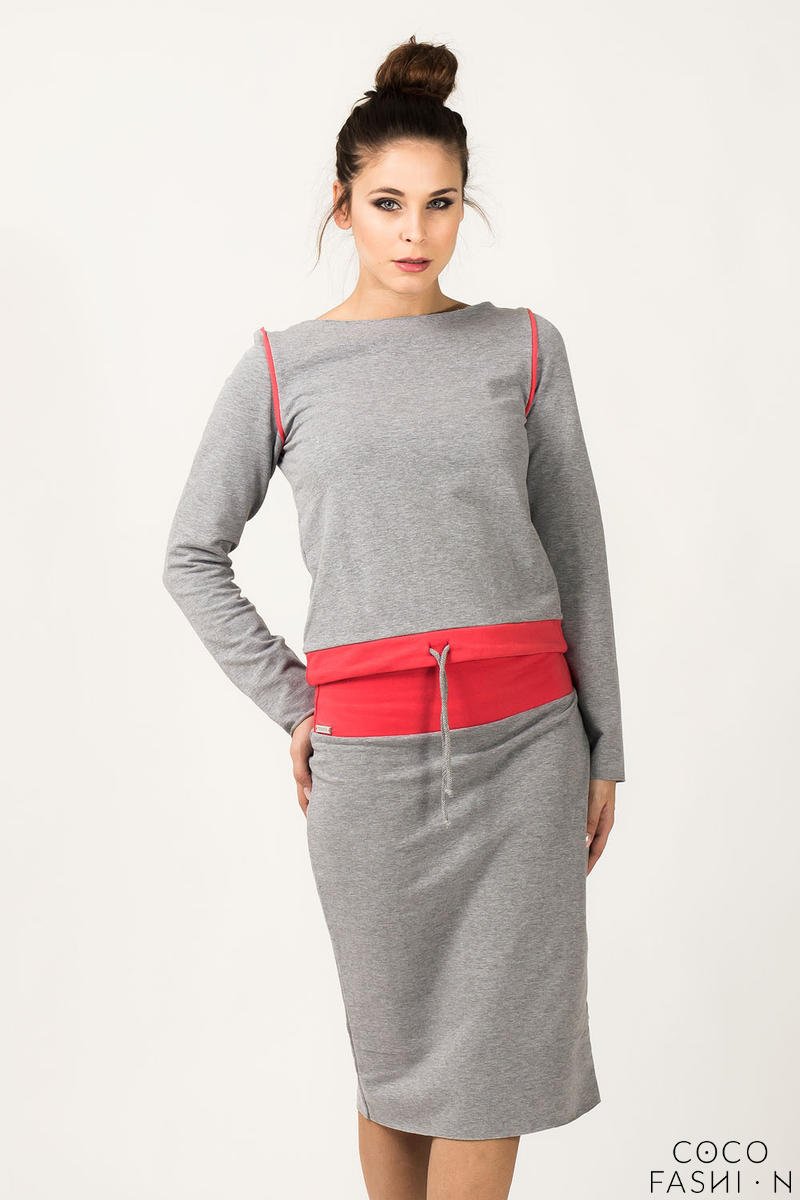 light-grey-coral-fitted-sport-style-skirt