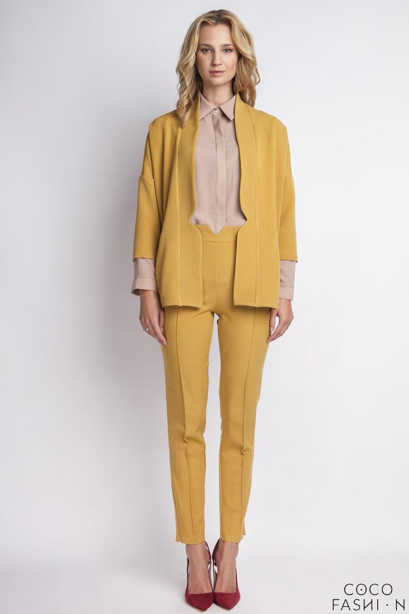 mustard-elegant-buttons-blazer