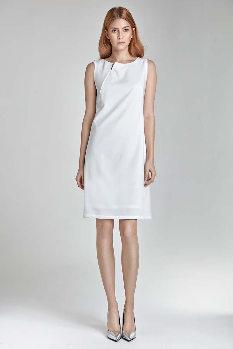 Ecru Simple Sleeveless Dress