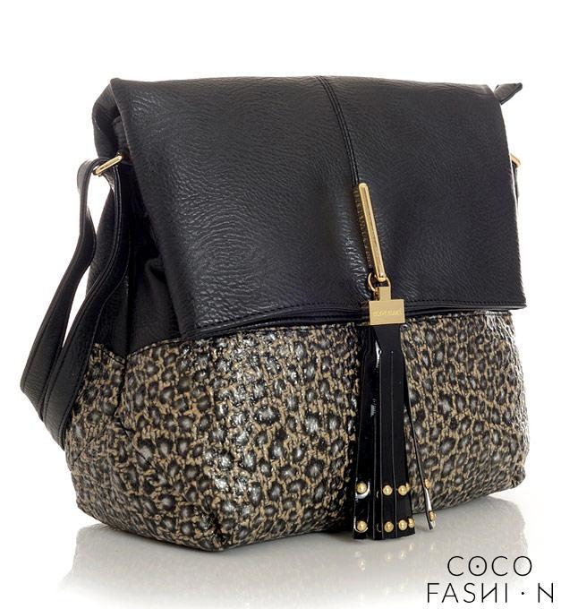 Black&Leopard City Style Comfortable Ladies Bag от cocofashion