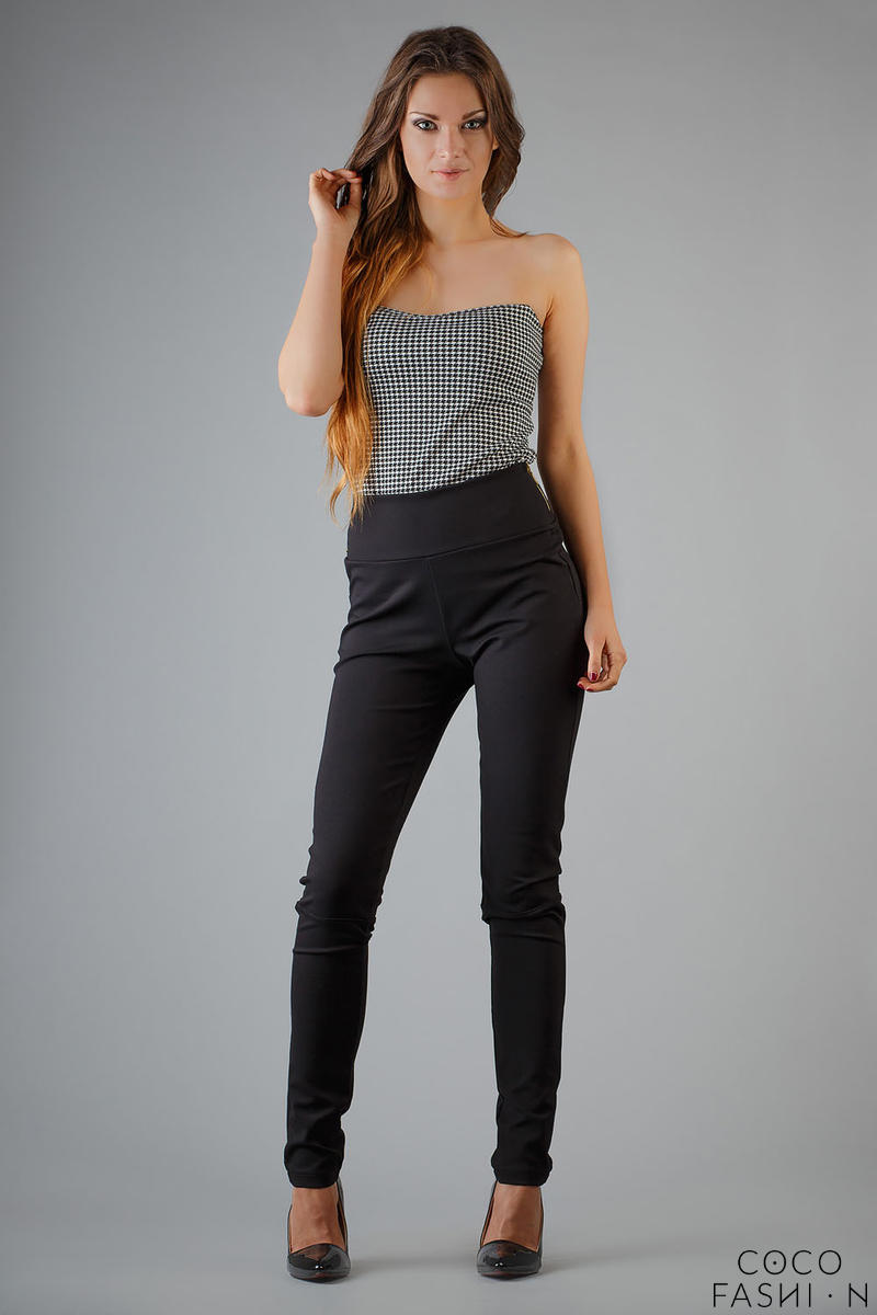 Black Slim Fit High Waist Ladies Pants