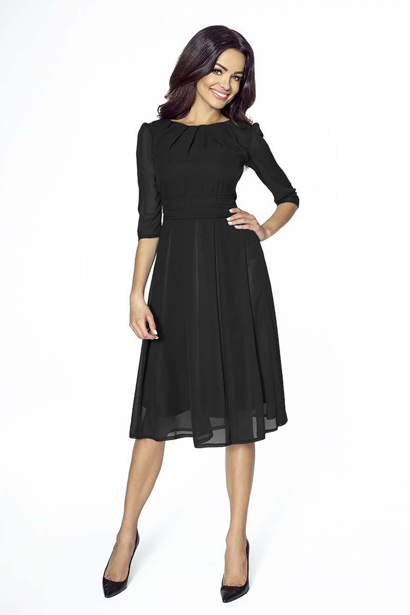 Black Evening Long Sleeves Dress
