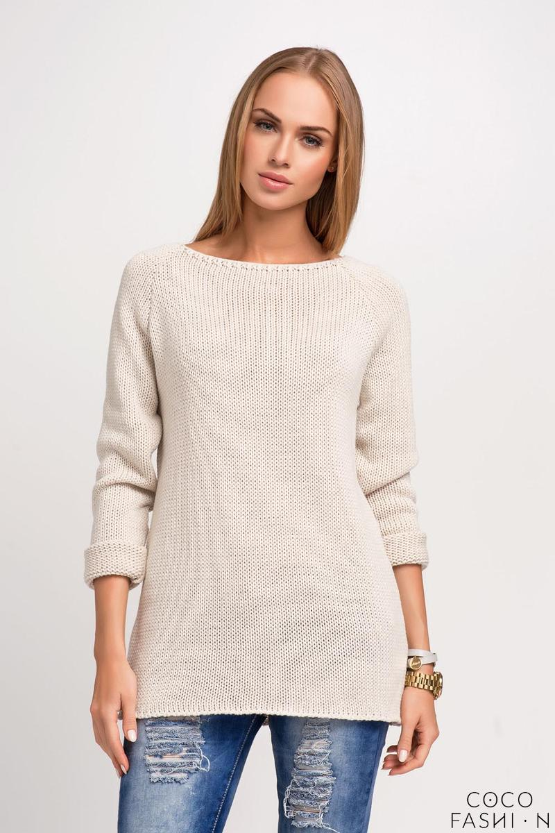 Beige Regular FIt Raglan Sleeves Jumper