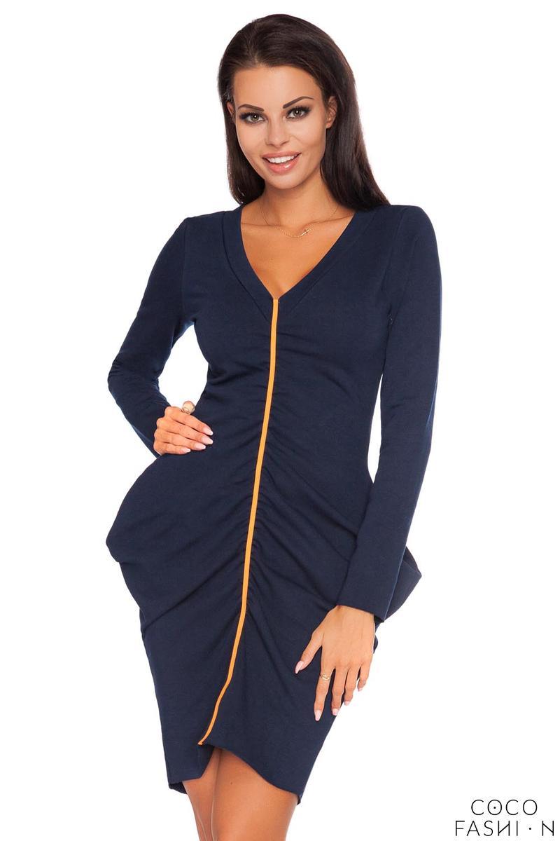 dark-blue-wrinkled-contrasting-detail-dress