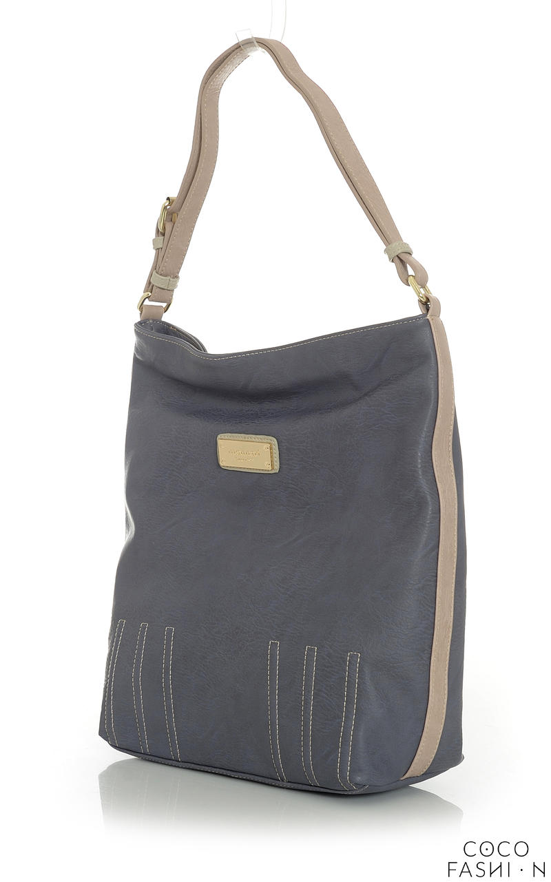 Grey Casual Office/Street Style Ladies Hand/Shoulder Bag