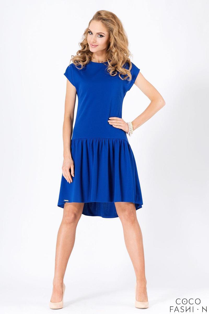 Blue Romantic Low Waistline Summer Dress от cocofashion