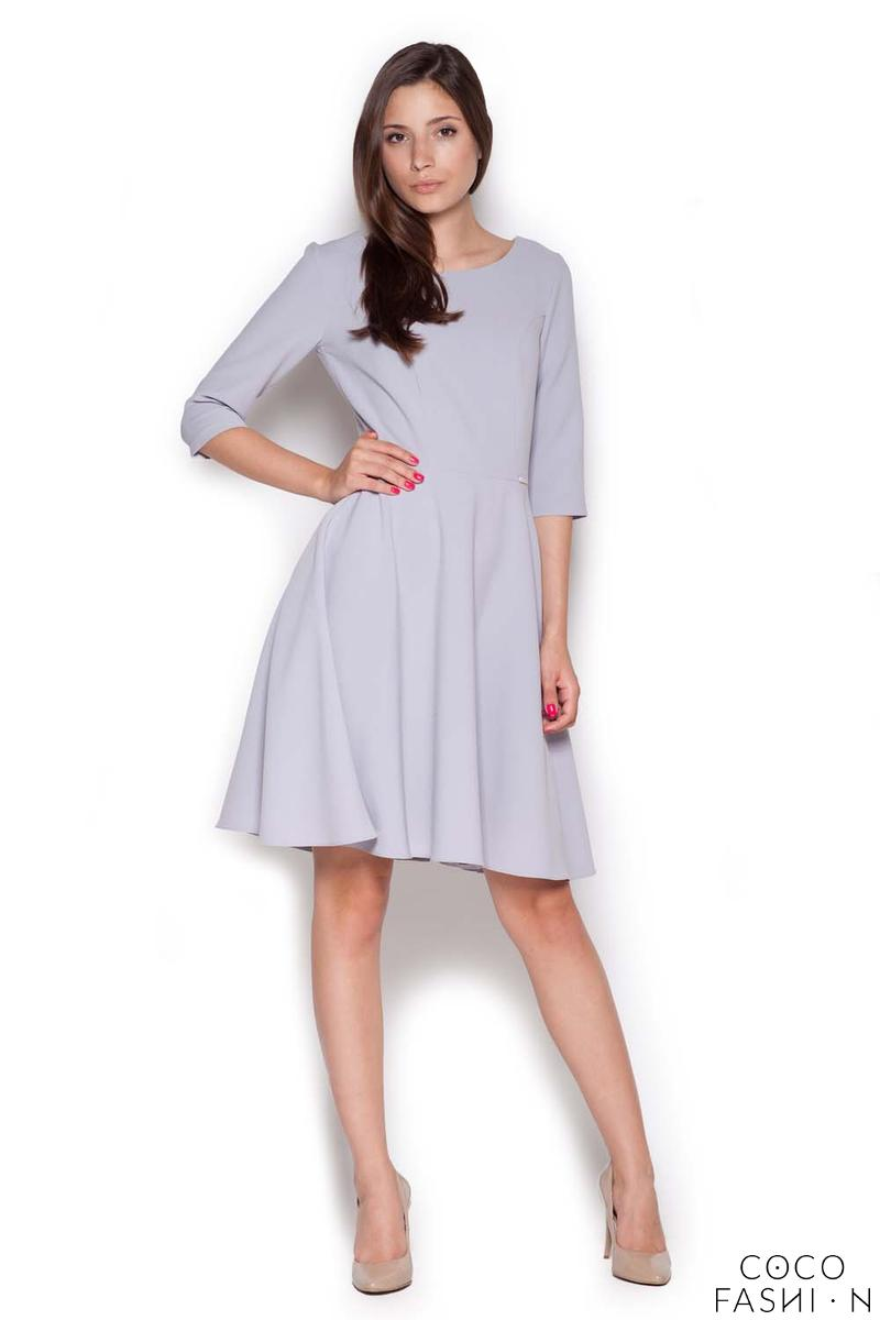 Grey Classic Light Pleats Dress