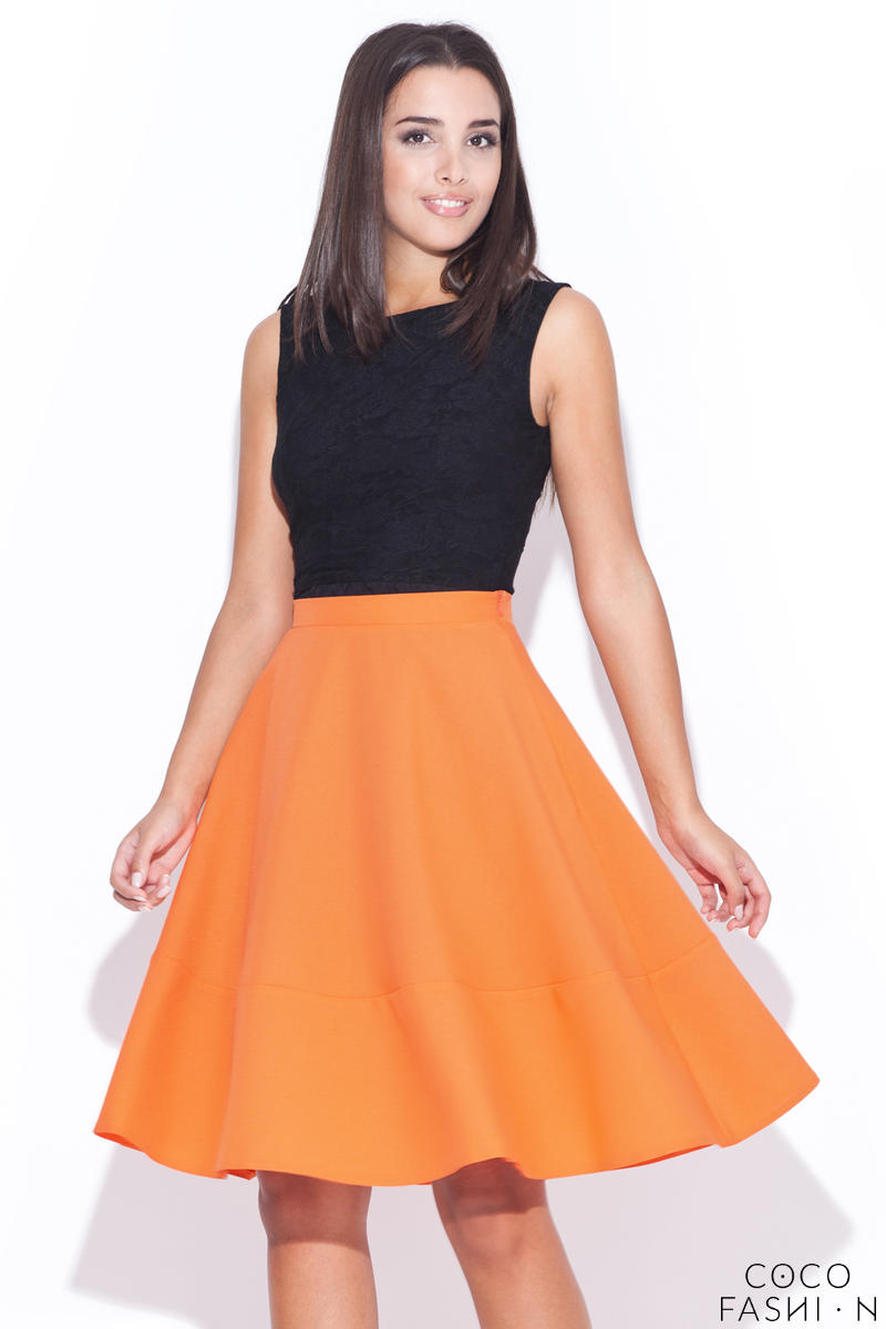 orange-swirly-panel-skirt-with-side-zip-fastening
